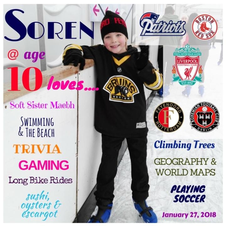 Soren turned 10