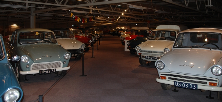 cars on showroom floor