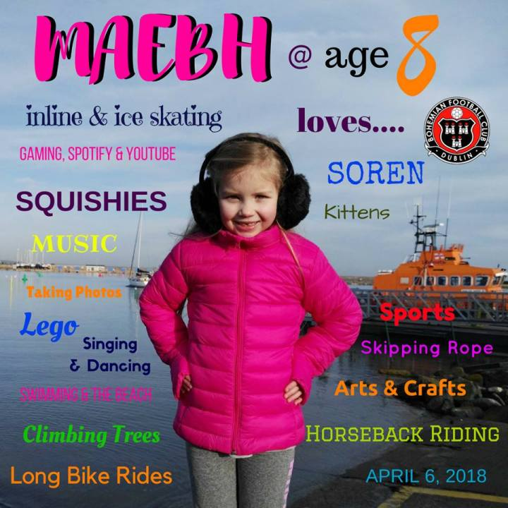 Maebh turns 8