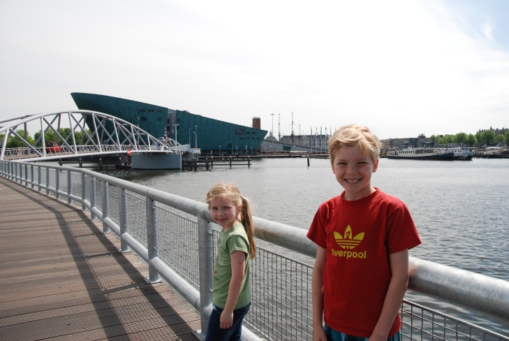kids on bridge near neamo