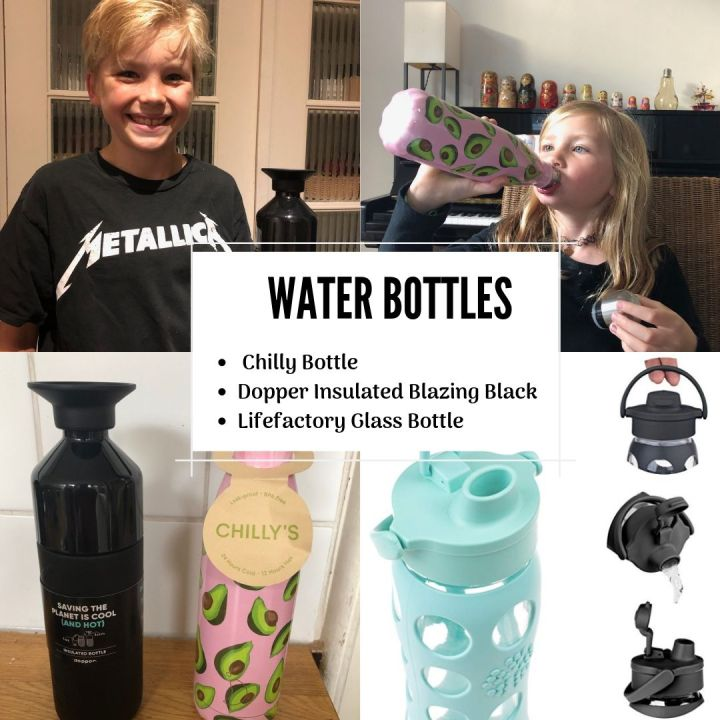 PRODUCT REVIEW:  Stainless Insulated Bottles – Chilly Bottle & Dopper Insulated Blazing Black