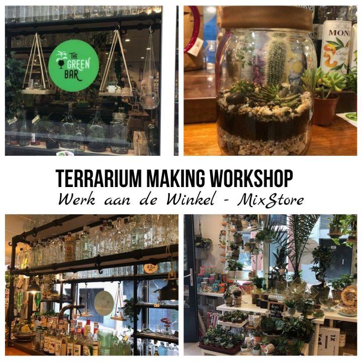 Terrarium making working at Werk aan de Winkel – MixStore – s'Hertogenbosch