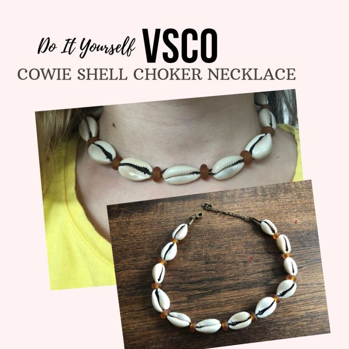 DIY: VSCO Cowie Shell Choker Necklace