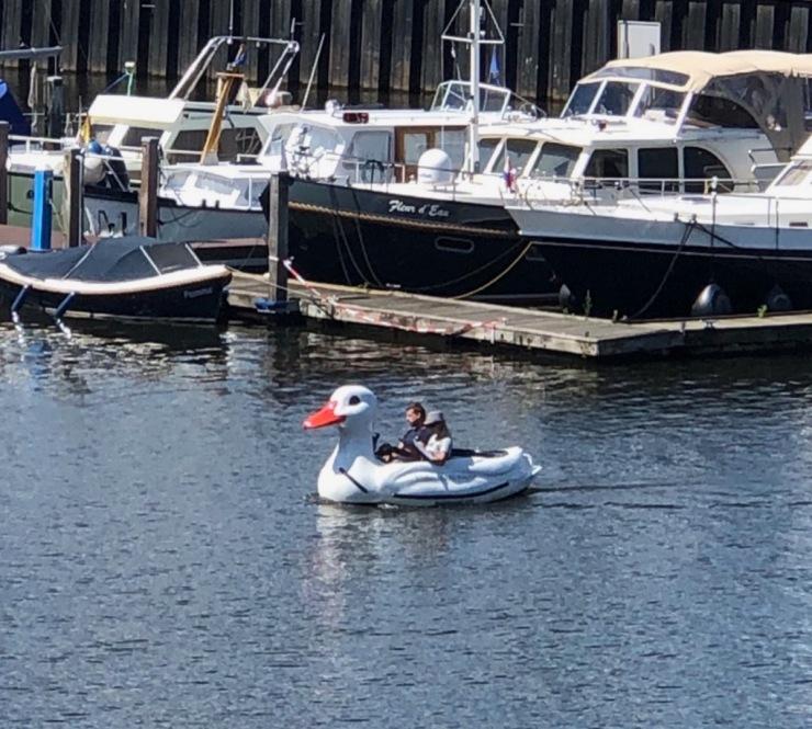 Ducky boat